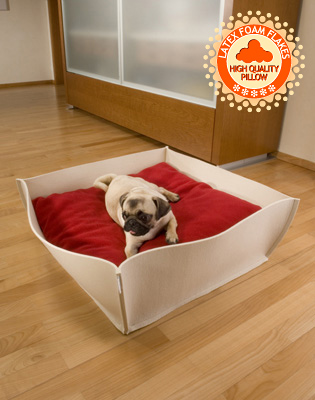Bowl felt dog bed