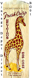 Giraffe popcorn bag