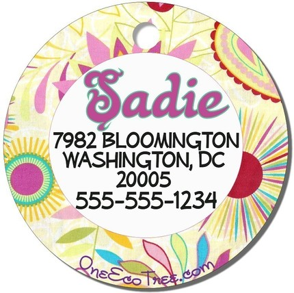 One eco tree sadie dog tag