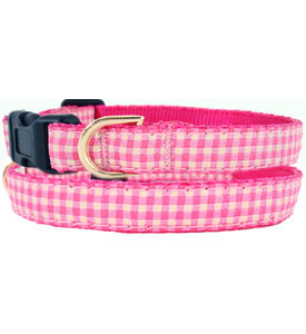 Dog Collars Pink Gingham