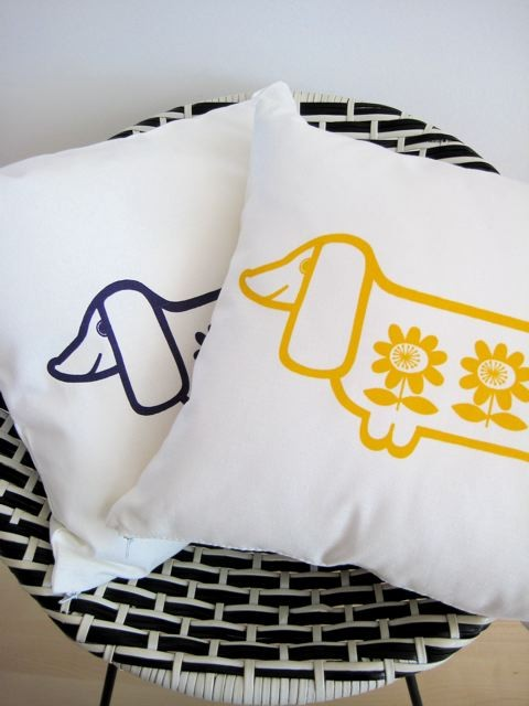Jane Foster Sausage Dog Print Cover