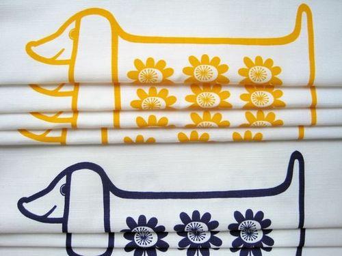Jane Foster Sausage Dog Print Pillow