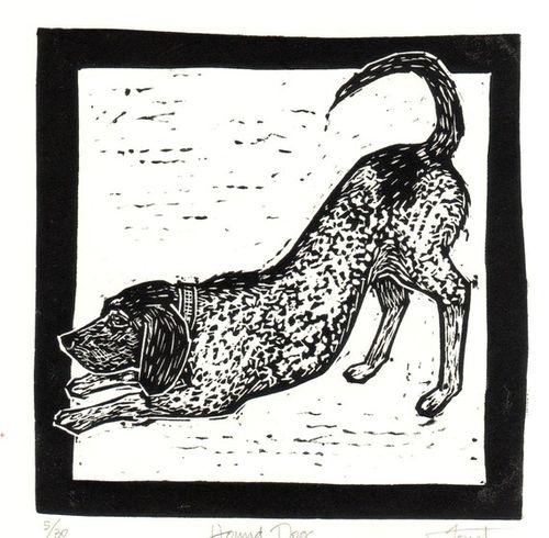 Foust Art Hound Dog