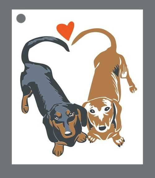 Oversized dachshund gift tags