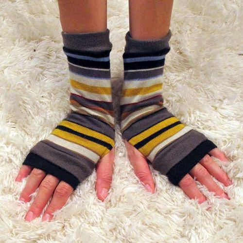 Clf happy stripe armwarmers