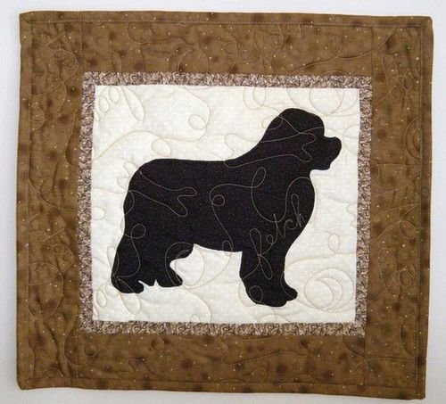 Doodlebug Quilt Newf Wall Hanging