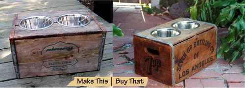 Make This Buy That Raised Dog Feeder