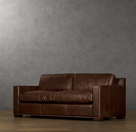 Collins leather sofa