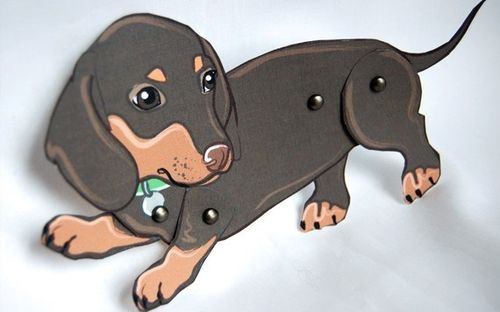 Doxie Paper Dolls